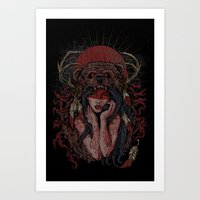 Tattooed Bear Art Print