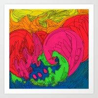 Neon Number 2 Art Print