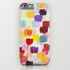 DOTTY - Stunning Bright Bold Rainbow Colorful Square Polka Dots Lovely Original Abstract Painting iPhone 6s Slim Case
