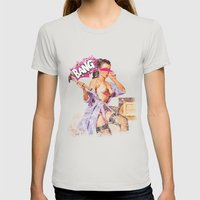 The Distracted Housewife Womens Fitted Tee Silver SMALL