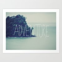 adventure Art Prints featuring Adventure Island by Leah Flores