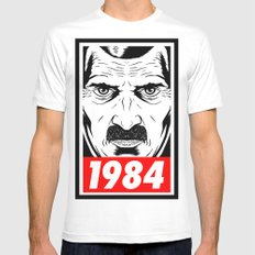 OBEY 1984 White SMALL Mens Fitted Tee