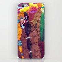 Somewhere Between Good & Evil {Mixed Media: watercolor, gouache, acrylic} iPhone & iPod Skin