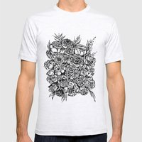 Wedding Flowers  Mens Fitted Tee Ash Grey SMALL