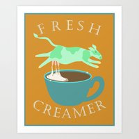 Fresh Creamer Art Print