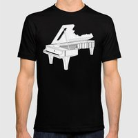 Music Is The Key. Mens Fitted Tee Black SMALL
