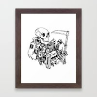 Grim Reaper - Power Scyt… Framed Art Print