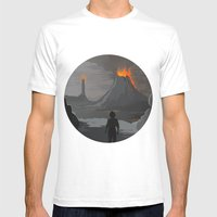 Lord Of The Rings Mens Fitted Tee White SMALL