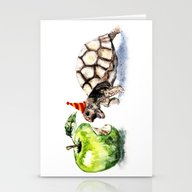 Stationery Cards featuring Turtle by Anna Shell