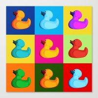 pop art duck Canvas Print