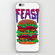 iPhone & iPod Skin featuring FEAST by Lokhaan