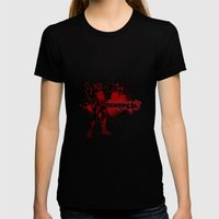 Bloody Mess Womens Fitted Tee Black SMALL