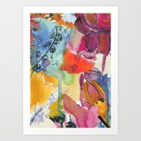 Abstract Floral Watercol… Art Print