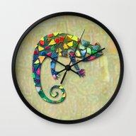 Animal Mosaic - The Cham… Wall Clock
