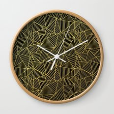 Ab 2 R Black and Gold Wall Clock