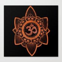 Ohm - Yoga Print Canvas Print