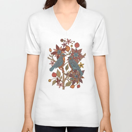 Lovebirds V-neck T-shirt