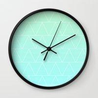 Mint Heaven Triangles Wall Clock