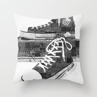 Get Chucked Throw Pillow