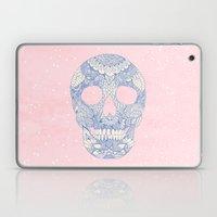 Modern Blue Ornate Skull… Laptop & iPad Skin