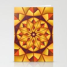 Golden geometric flourish Stationery Cards