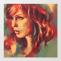Your girl, she's a renegade. Canvas Print