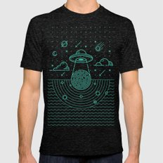 Ufo  Mens Fitted Tee Tri-Black SMALL