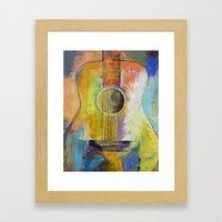 Guitar Melodies Framed Art Print