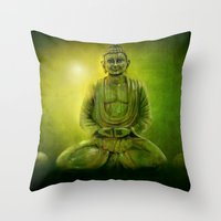 Happy Buddha 1 Throw Pillow