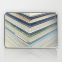 Blue Chevron Books Laptop & iPad Skin