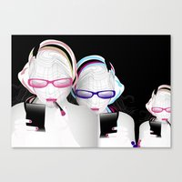 Girly Canvas Print