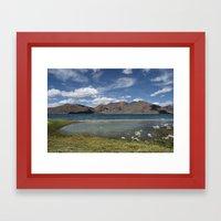 Pangong Tso Lake Framed Art Print