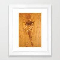 Kissing Mermaid Framed Art Print