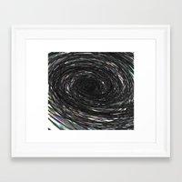 Iridescent Descent Framed Art Print