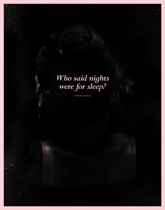 In The Dark: MONROE Art Print