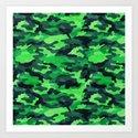 Camouflage. Art Print