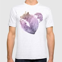 Bear your Heart v2 Mens Fitted Tee Ash Grey SMALL