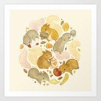 Things Squirrels Probabl… Art Print