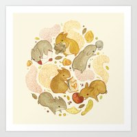 Things Squirrels Probabl… Art Print