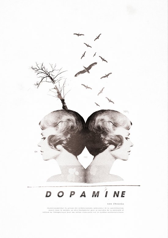 Dopamine | Collage Art Print