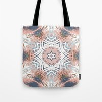 Tribe Coral and Steel Tote Bag