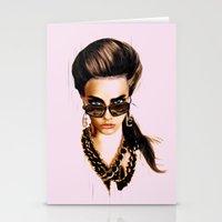 Fashion Illustration - G… Stationery Cards