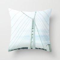 new bay bridge  Throw Pillow
