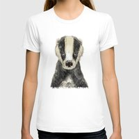 little badger Womens Fitted Tee White SMALL