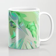 Palm Trees Abstract Mug