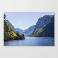 Narrow Fjord Canvas Print