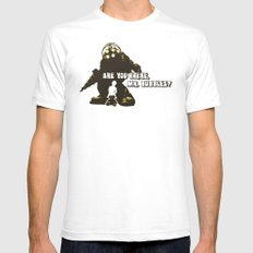 Bioshock: Are you there, Mr. bubbles? Mens Fitted Tee White SMALL