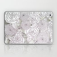 Floral Doodles in Gray Laptop & iPad Skin