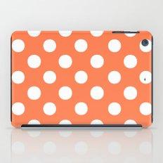 Polka Dots (White/Coral) iPad Case
