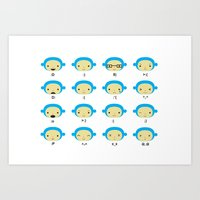 Emoticonal Monkey Art Print